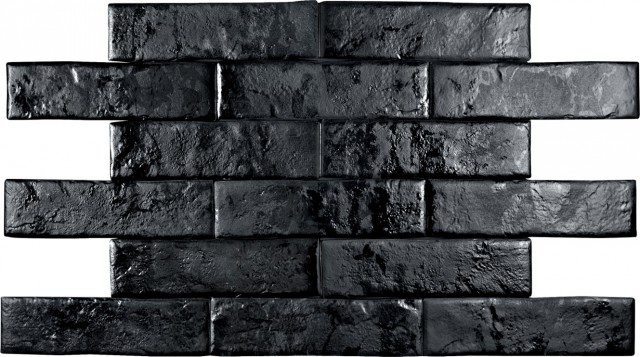 Керамогранит BrickWall Negro